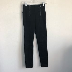 Frame Denim Jeans - Frame denim double zip waist skinny noir jeans 26